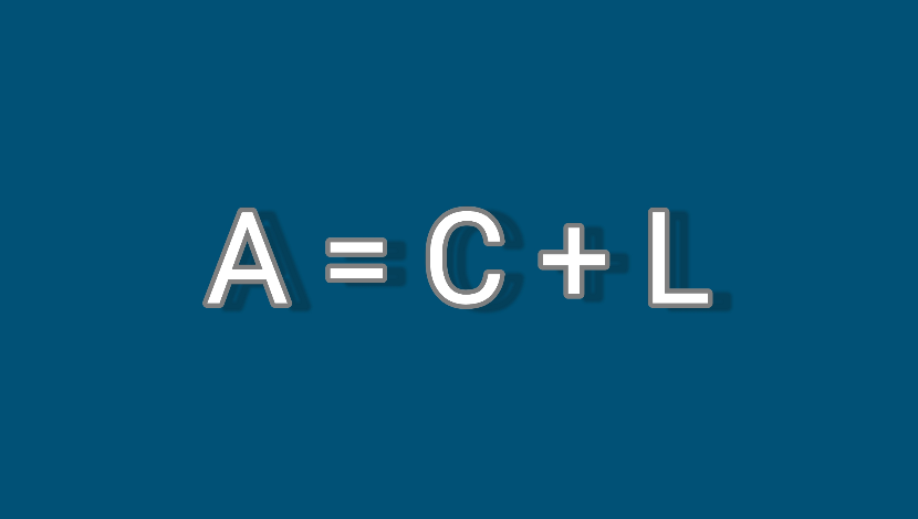 Cash flow statement and the accounting equation. A =C + L